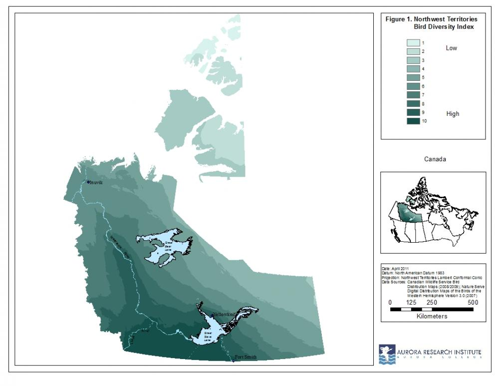 NWT bird diversity index