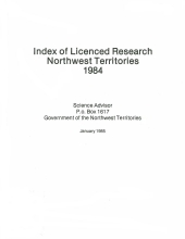 1984 Compendium of Research in the Northwest Territories