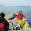 Water sampling on Noell Lake