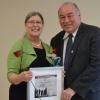 Dr. Moffitt receiving the Wise Woman Award