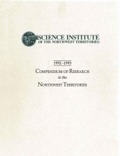 1992-1993 Compendium of Research in the Northwest Territories