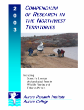 Click for 2003 Compendium of Research in the Northwest Territories